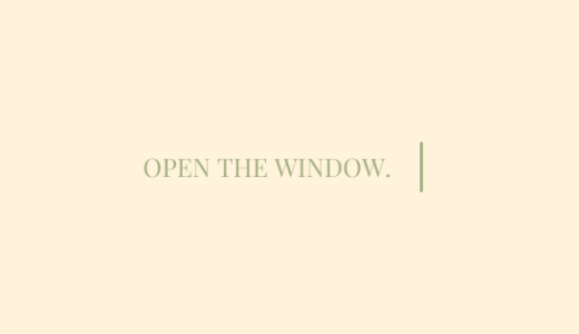 Open The Window